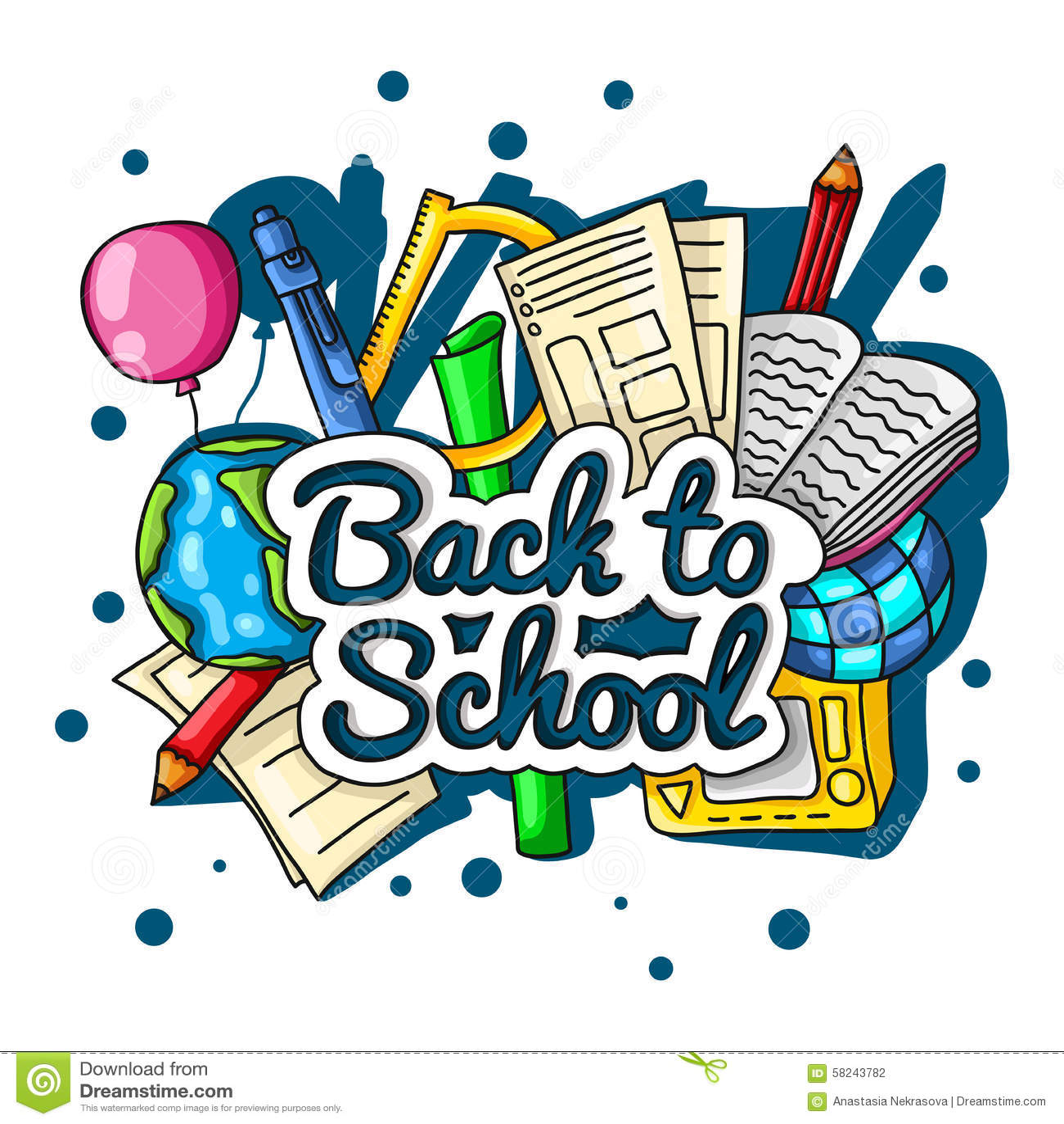 Back To School Notebooks Stock Image Cartoondealer Com
