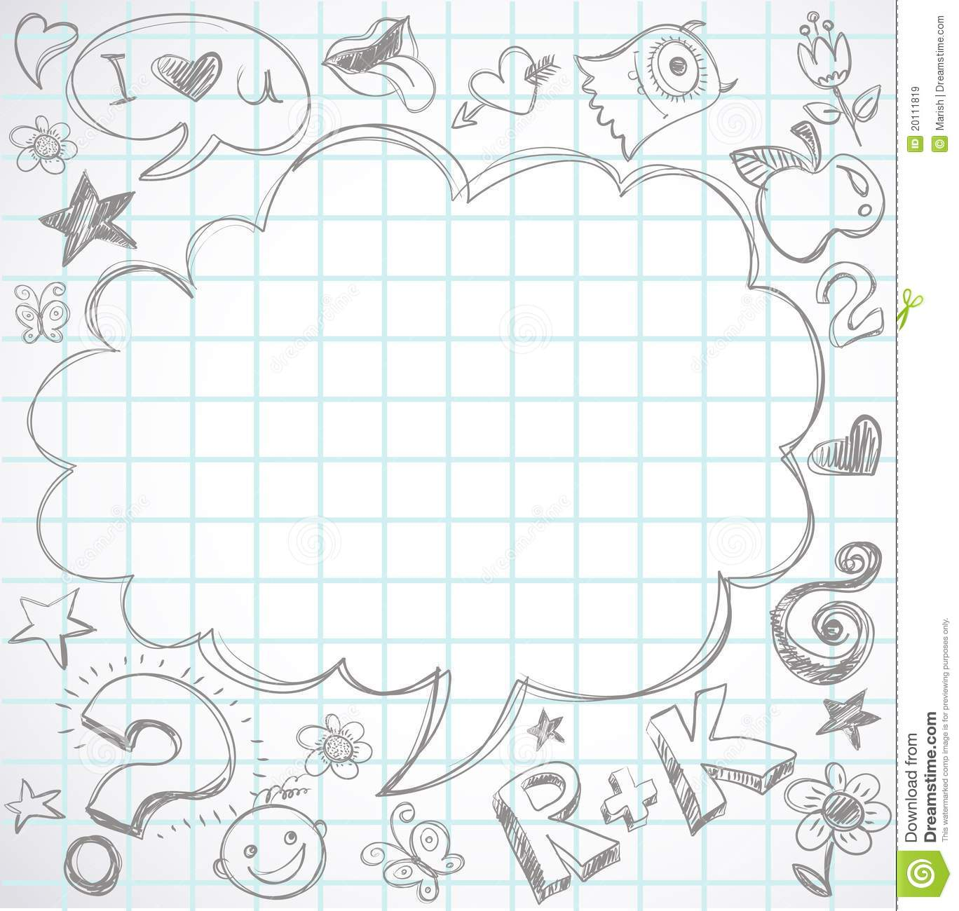 Back To School - Notebook With Doodles Stock Vector ...