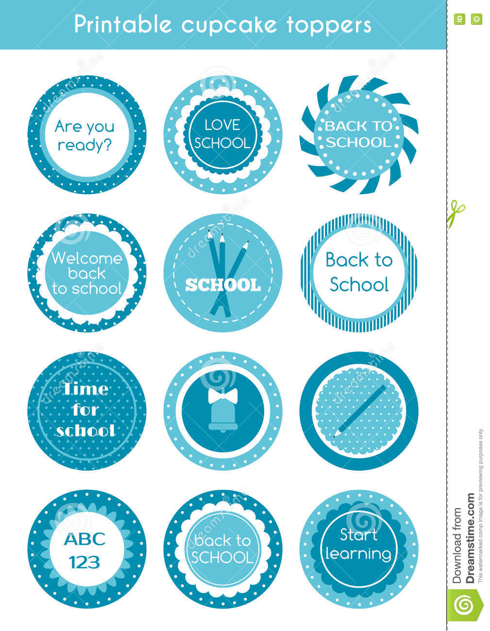 graphic regarding Circle Printable Labels called Again In the direction of Faculty Printable Labels Inventory Vector - Example
