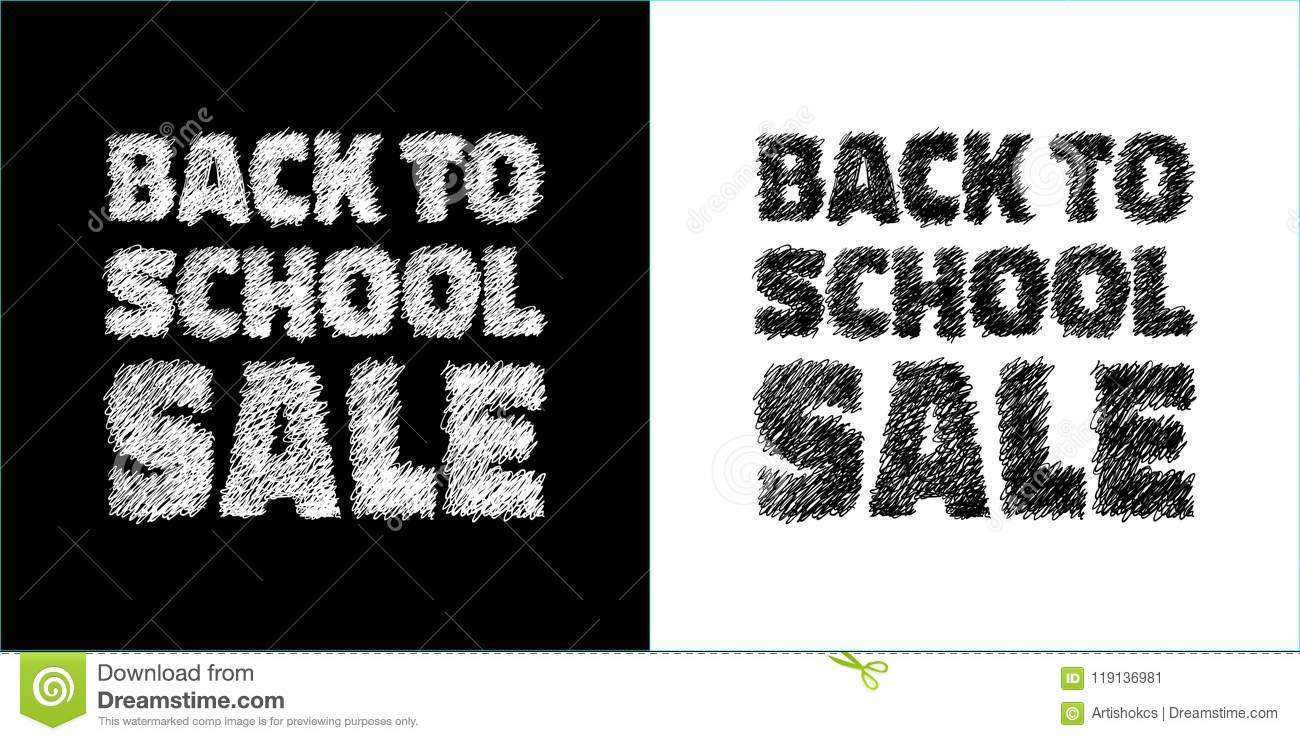 back to school sale banners black and white colors sale