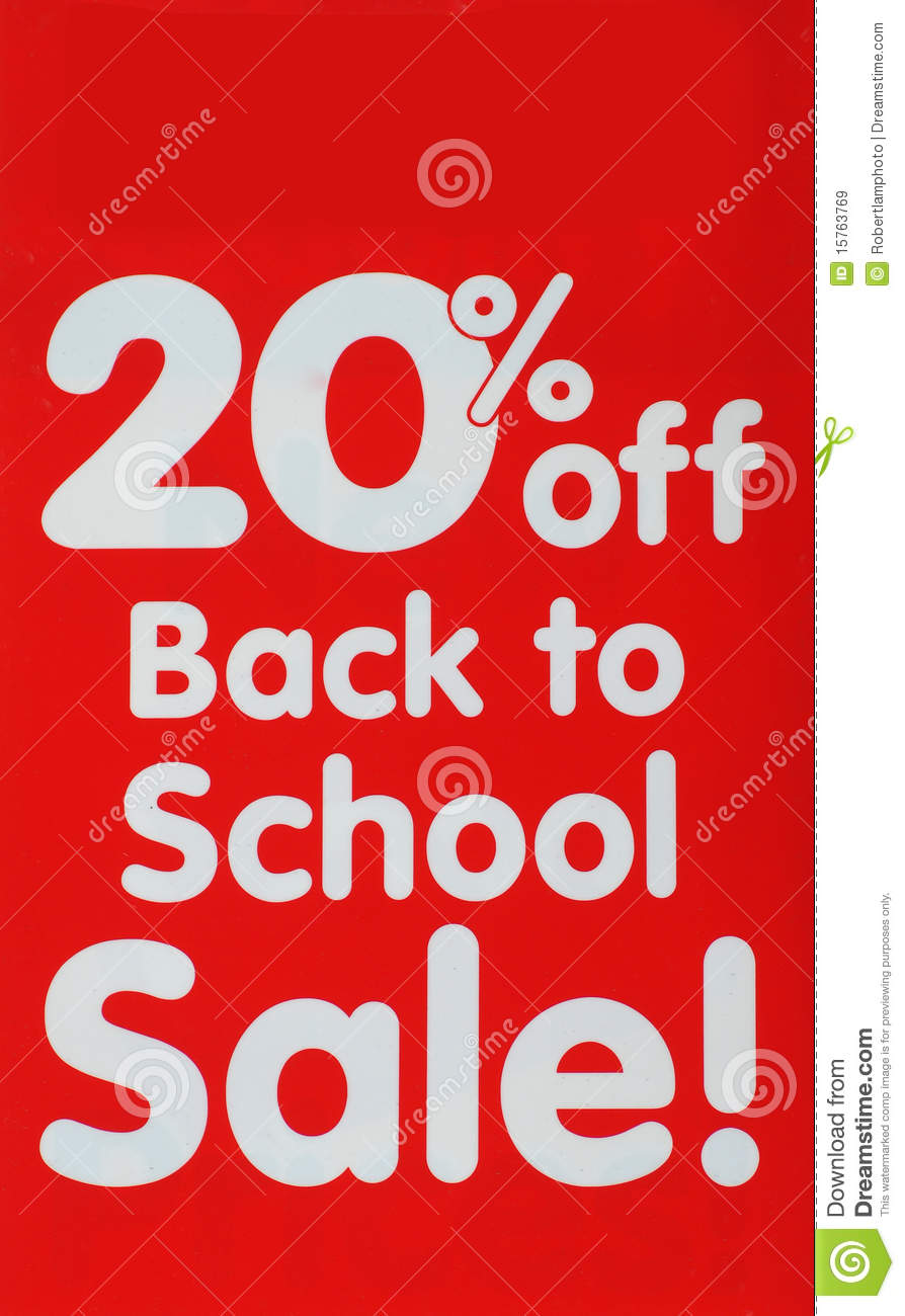 back to school sale sign royalty free stock images image