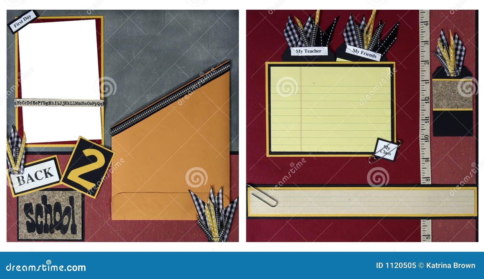 download back to school scrapbook frame template stock illustration illustration of frame book