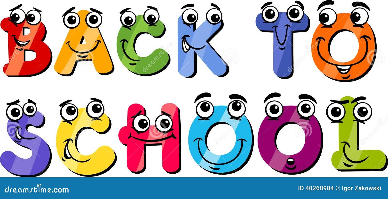 Back To School Sign Cartoon Stock Vector - Image: 40268984