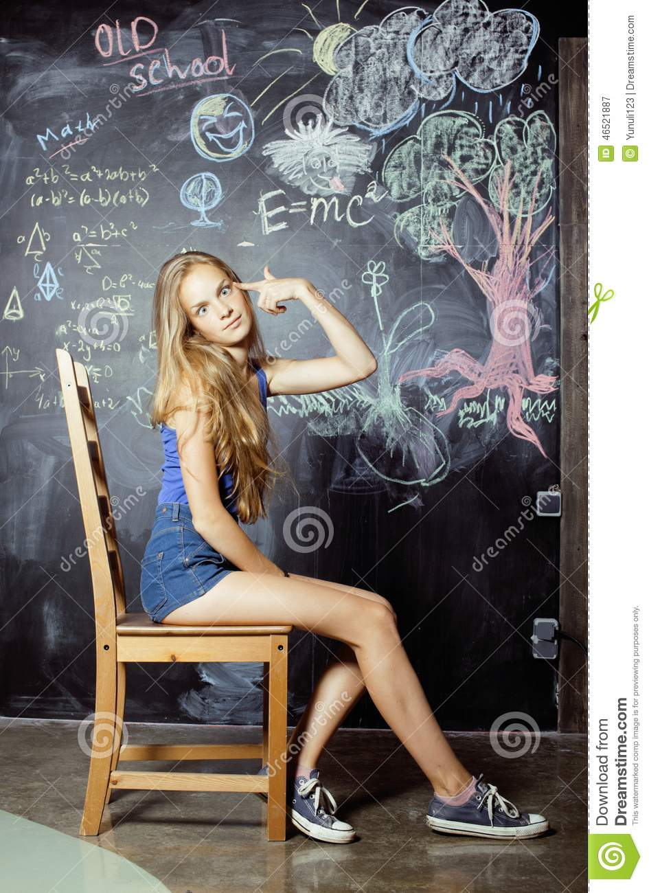Back To School After Summer Vacations Cute Teen