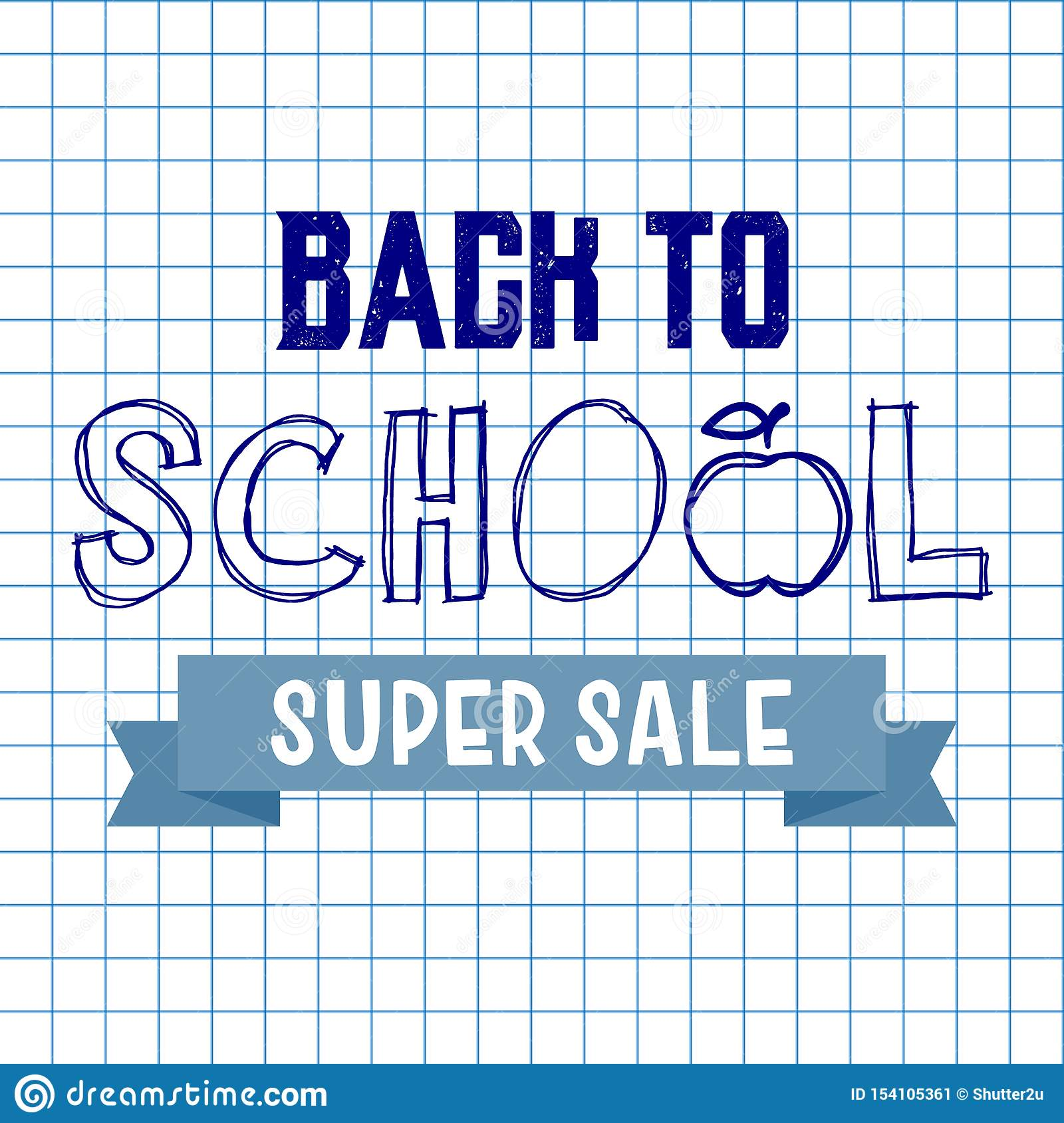Back to school super sale background. Advertising tag concept