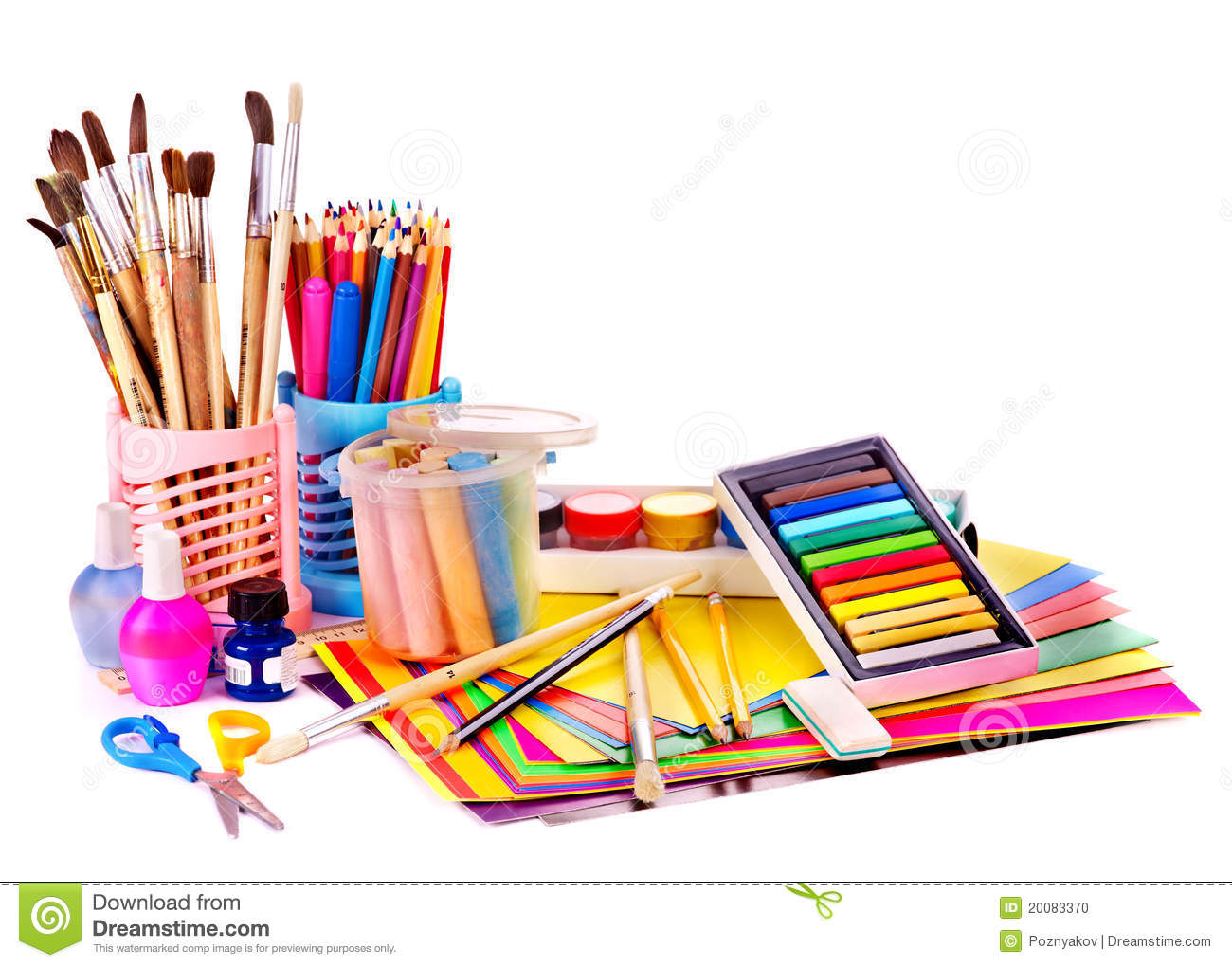Back To School Supplies Stock Photo Image 20083370