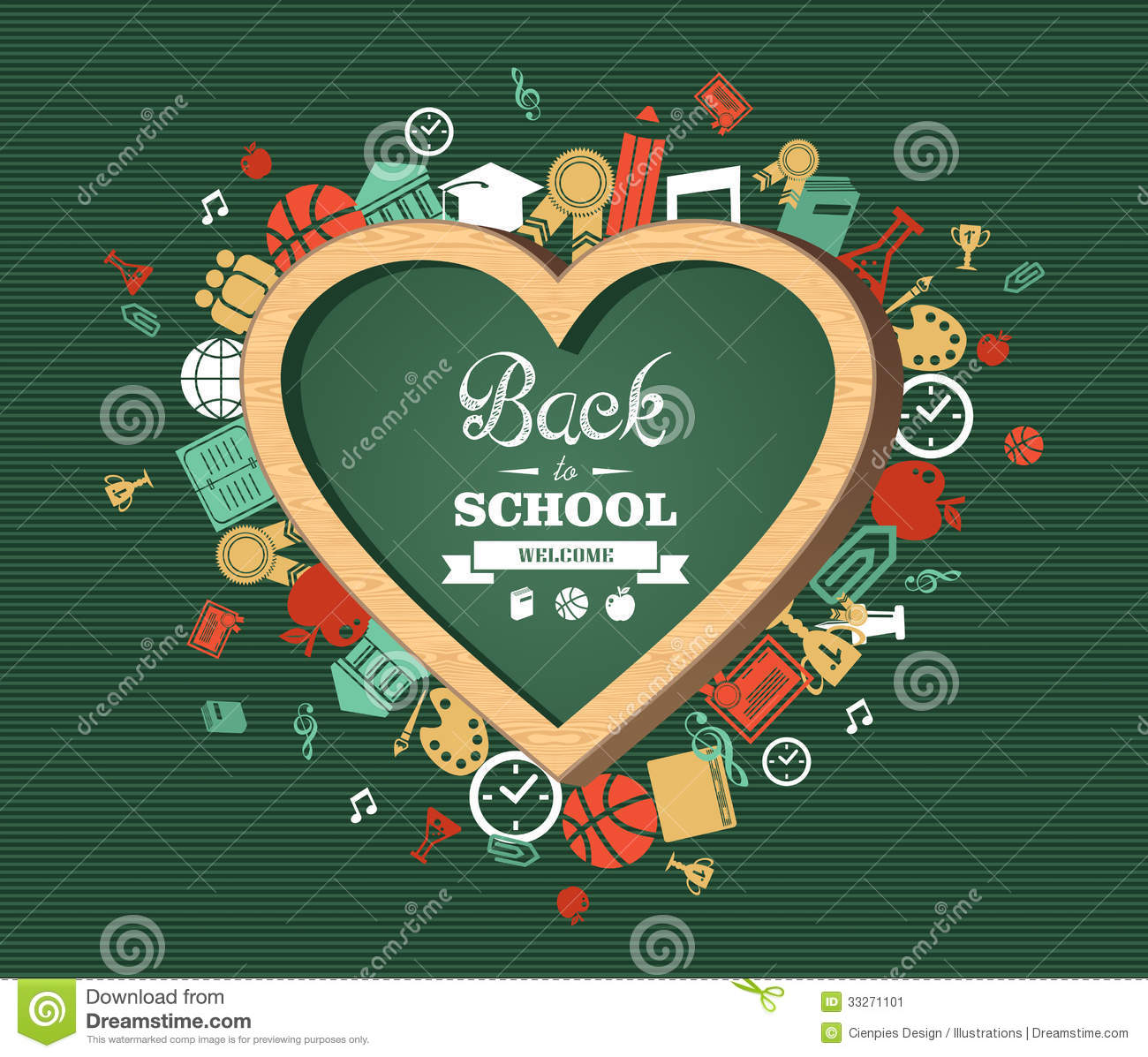 Back to school text education love symbol and icons stock vector back to school text education love symbol and icons buycottarizona Gallery