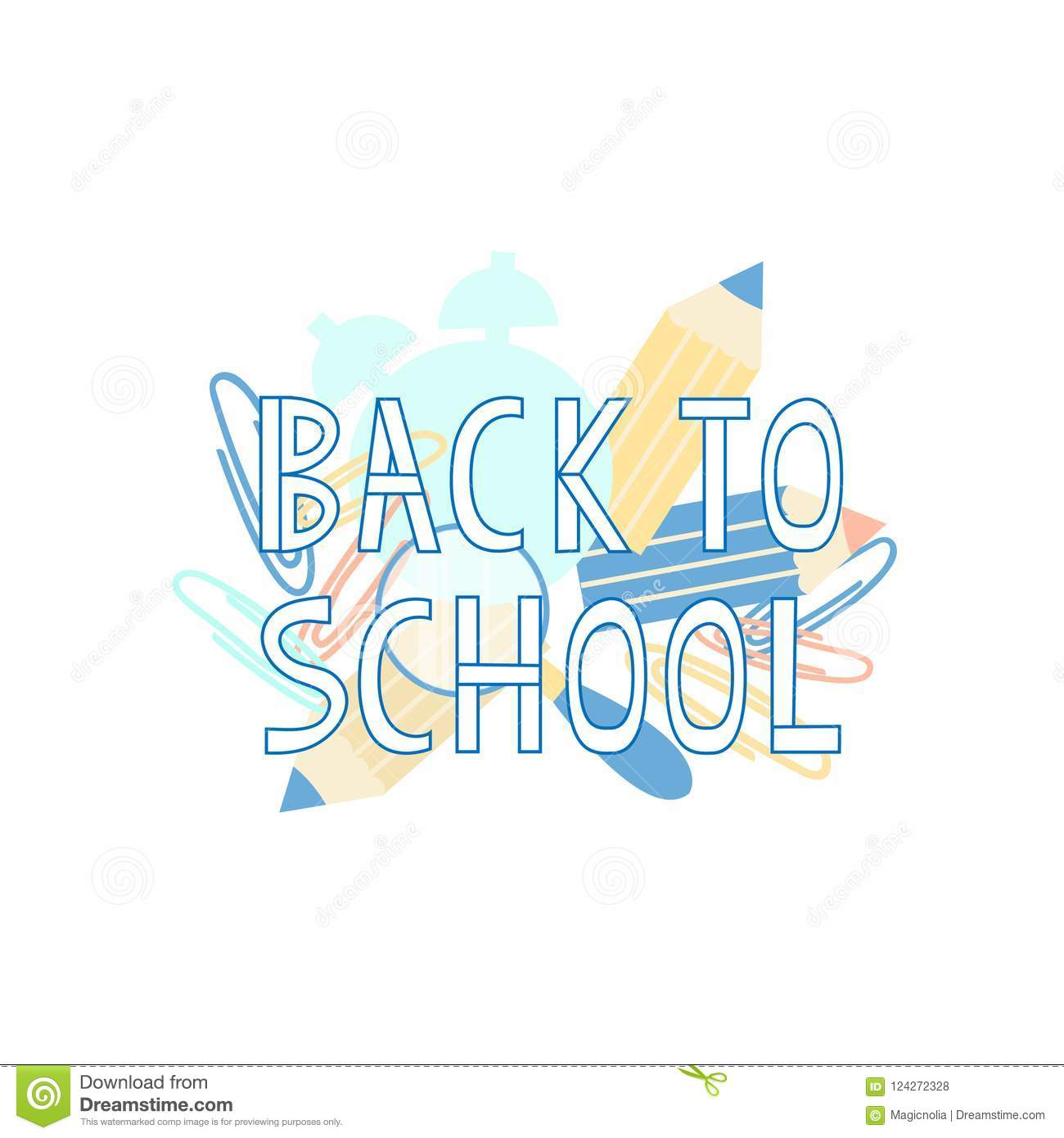 Back to school text with school supplies elements typography design download back to school text with school supplies elements typography design for greeting cards m4hsunfo