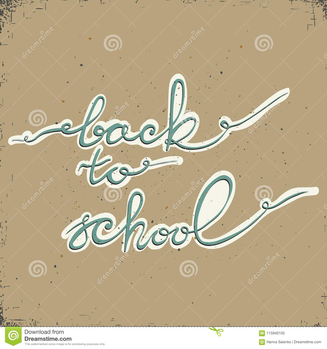 Back to school. Typography and lettering print template. Graphic design for back to school poster, advertising.