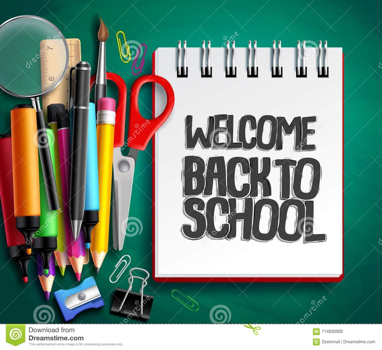 Back To School Vector Background Design With School ...