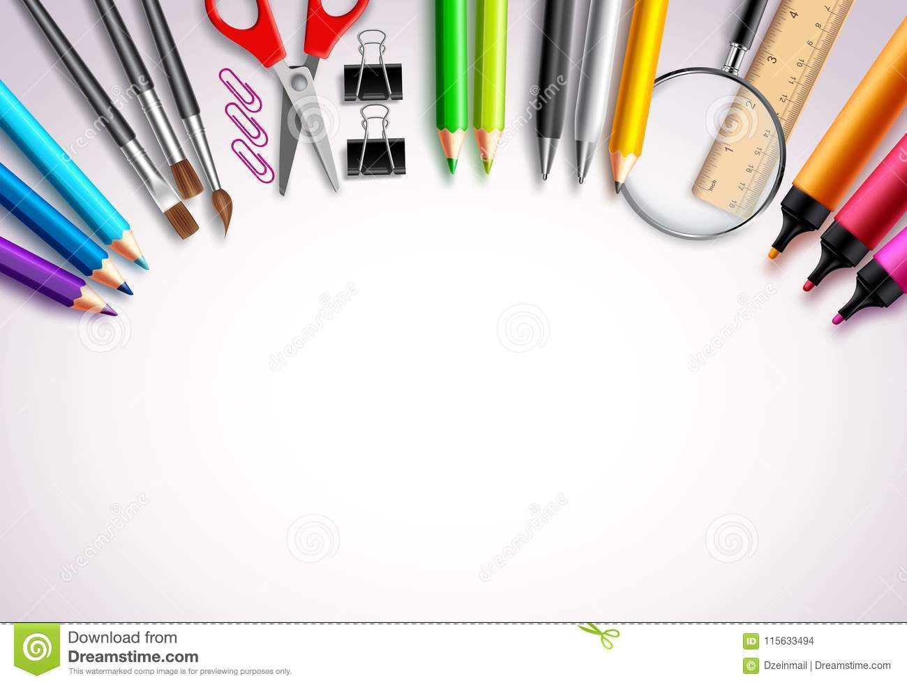 back to school vector background template with school