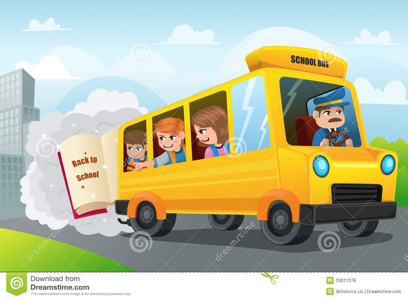 back to school royalty free stock photos image 33011378 Old Bus Clip Art Cute Bus Clip Art