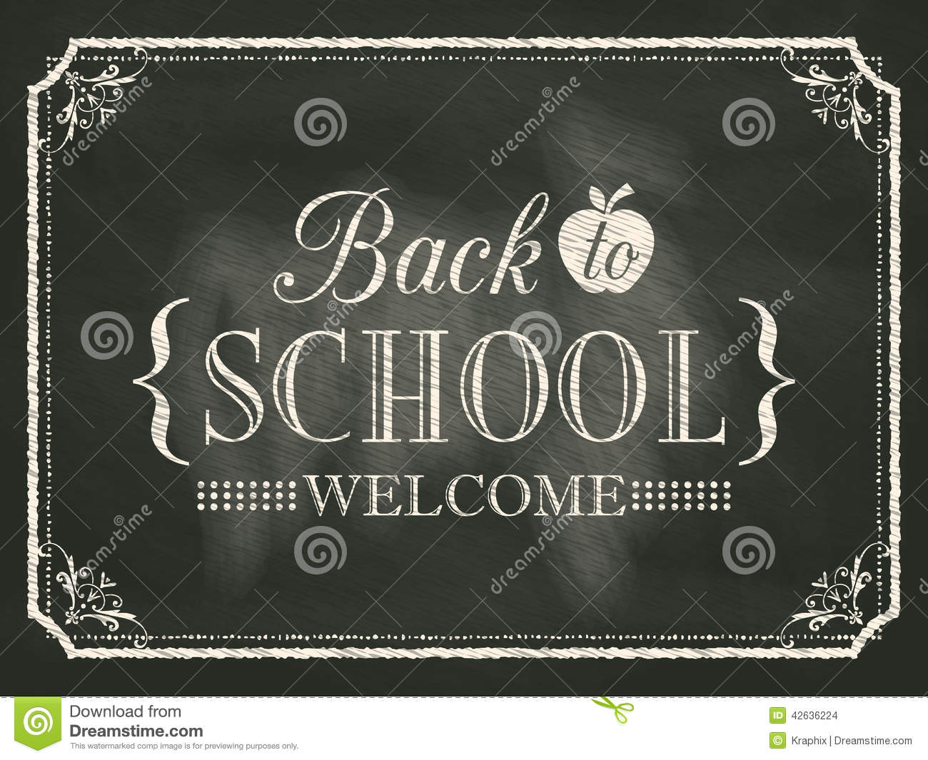 back to school vintage chalk board background stock vector