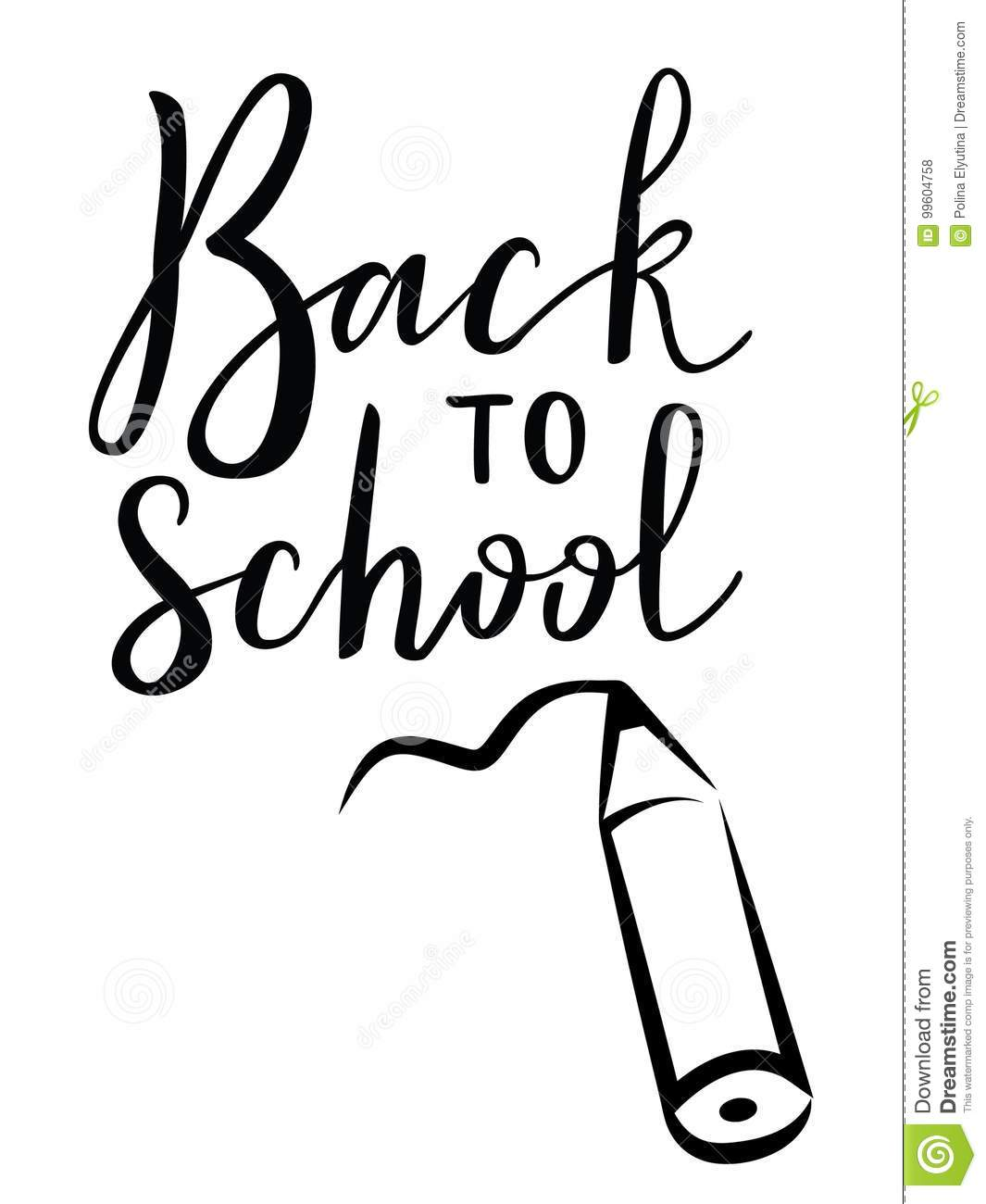 Back To School Stock Vector Illustration Of Elementary 99604758