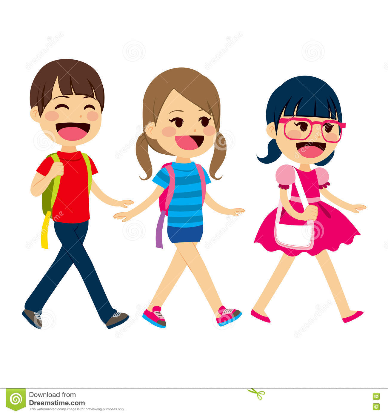 back to school walking students stock vector illustration of