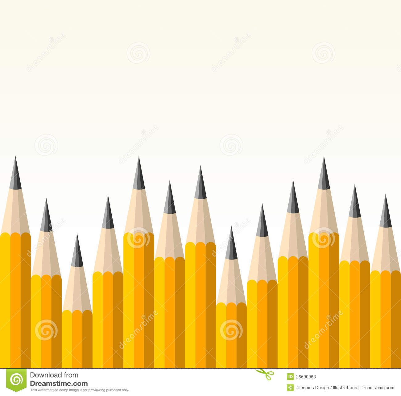 Back To School Yellow Pencil Pattern Stock Photos - Image