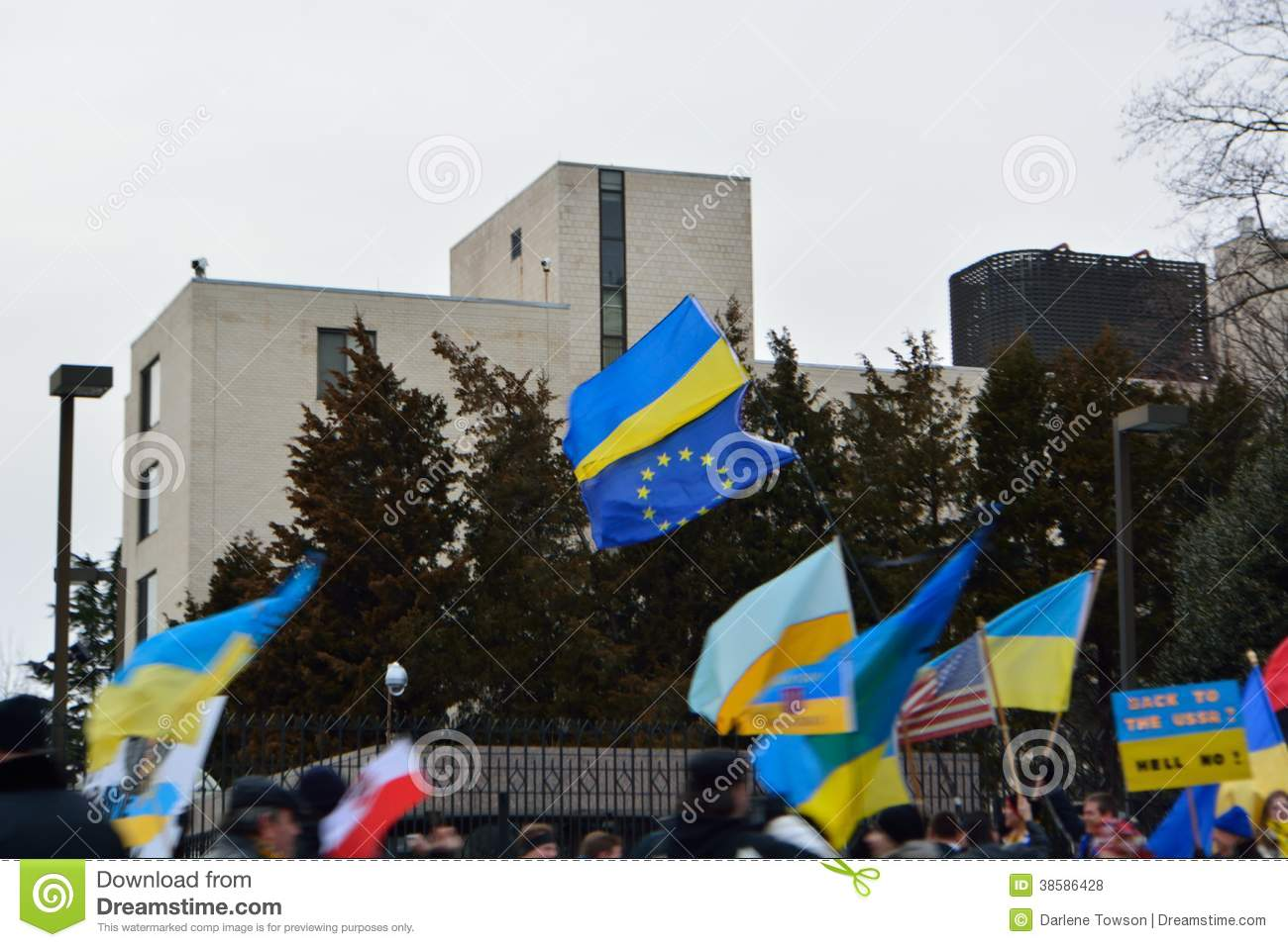 Back to the USSR; Ukraine Protest at Russian Embassy 3/4/14