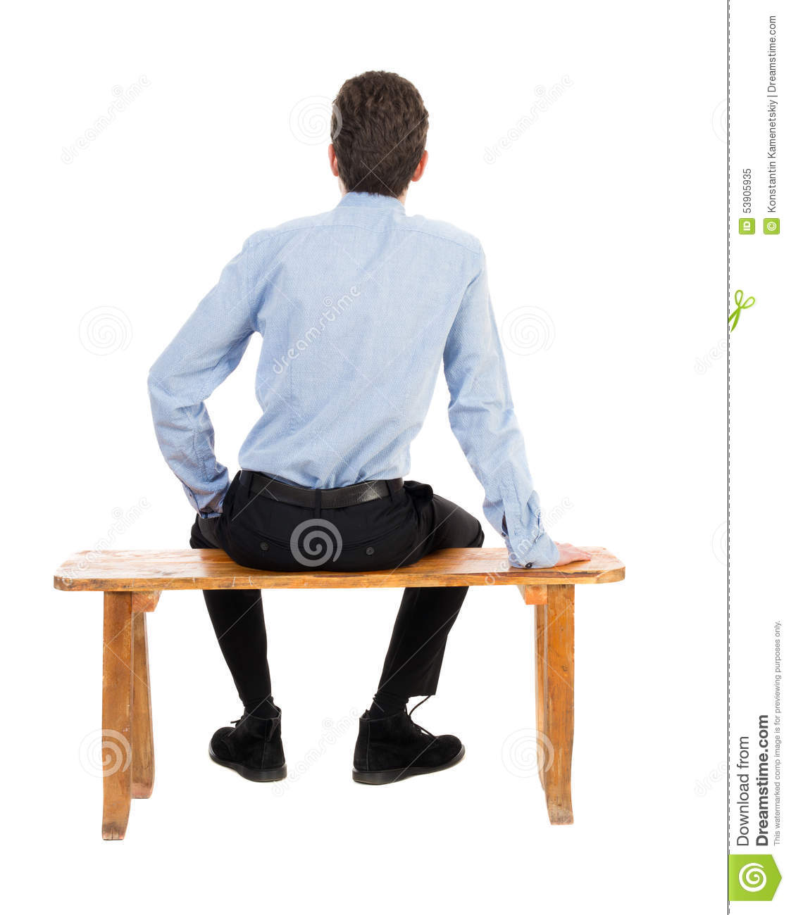 Back View Of Business Man Sitting On Chair. Stock Image ...