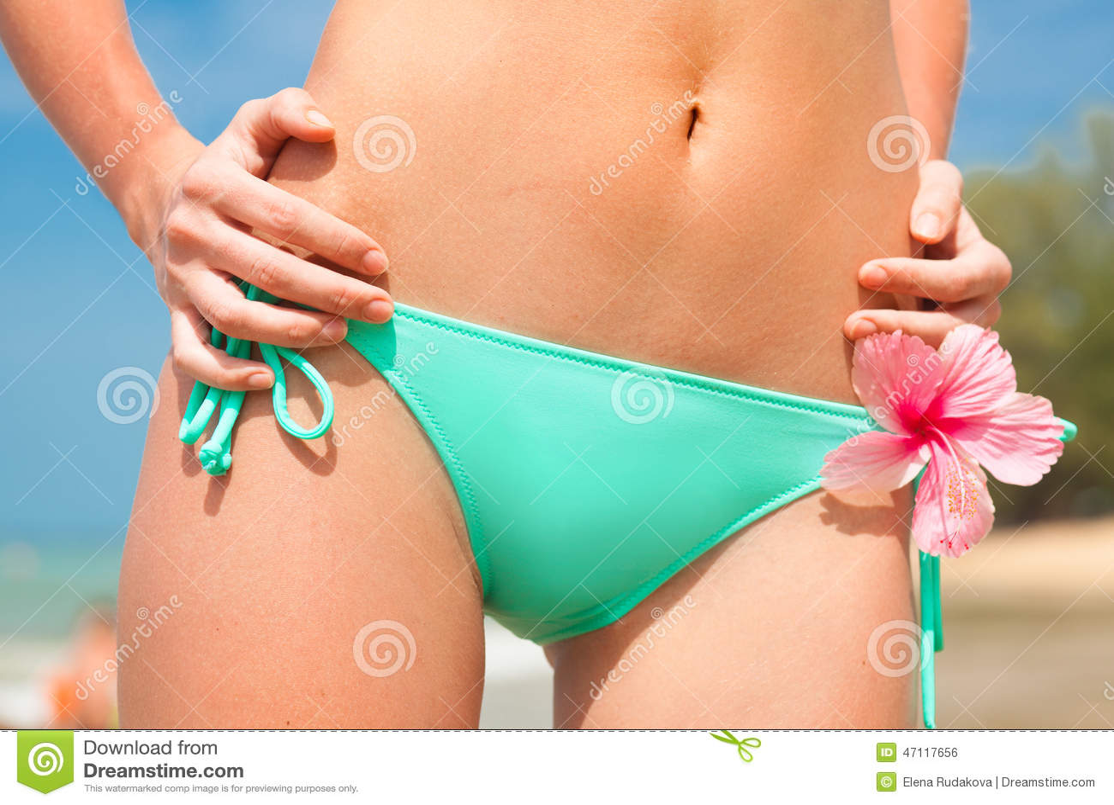 Green bikini travel