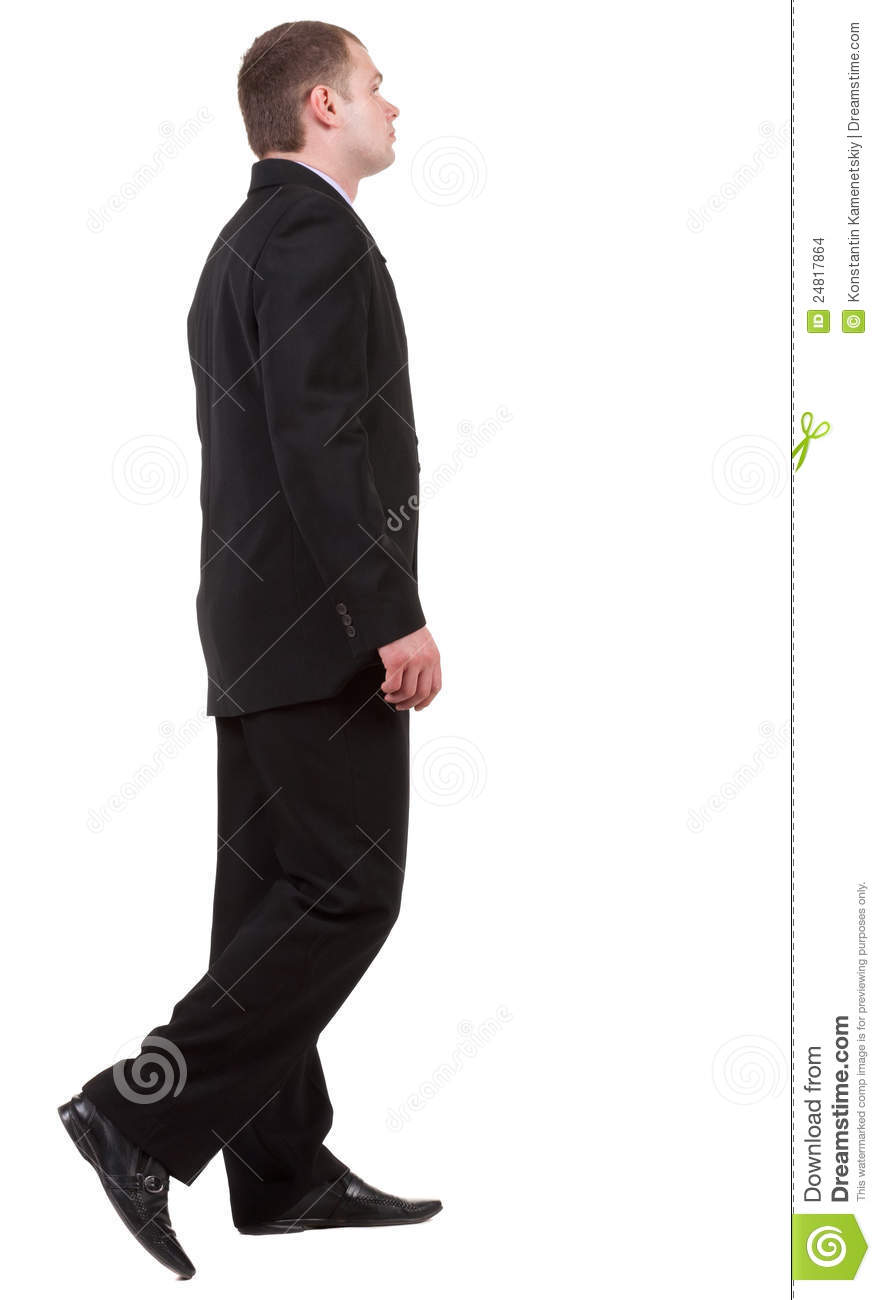 Back View Of Going Business Man. Stock Photo - Image: 24817864