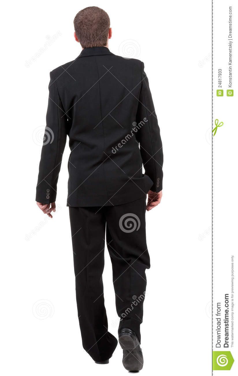 Back View Of Going Business Man. Stock Photos - Image ...