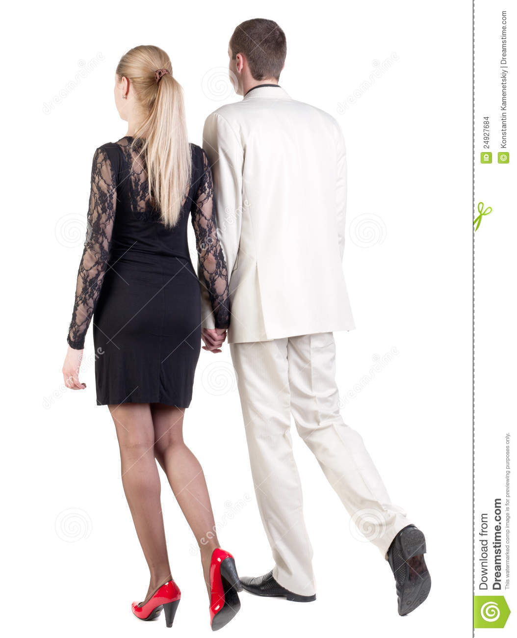 Back View Of Going Young Business Couple Stock Images - Image 24927684-9430