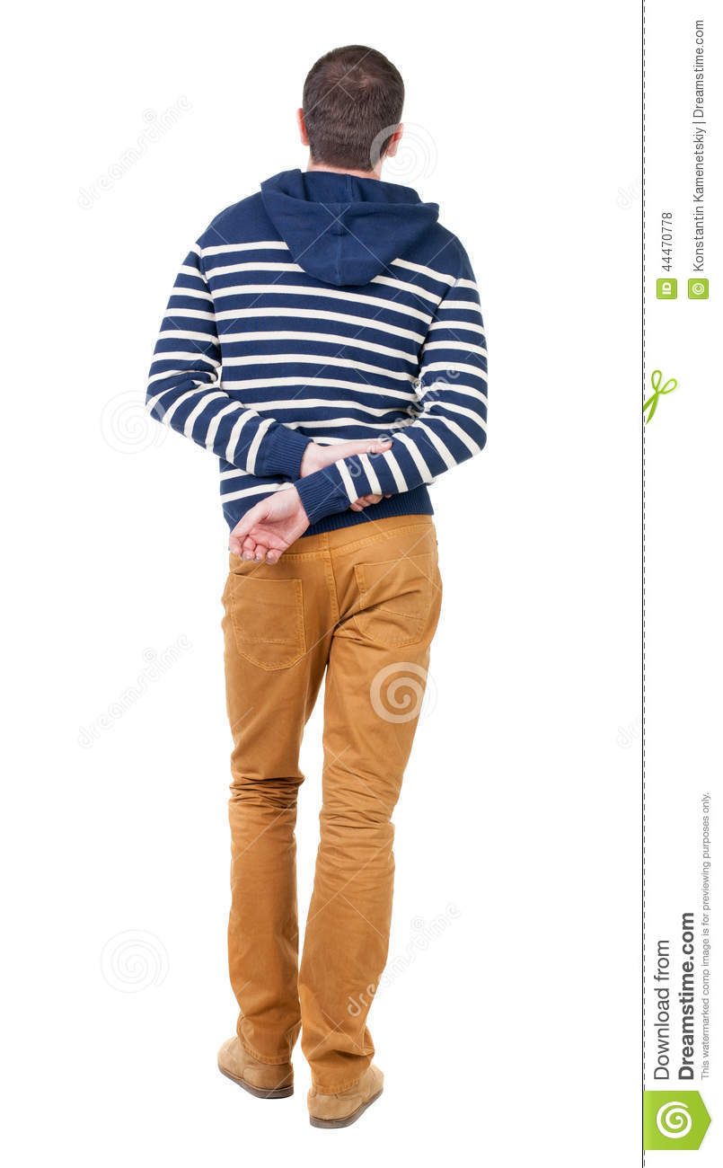 Young Handsome Man In A Hood Isolated On White Background ...