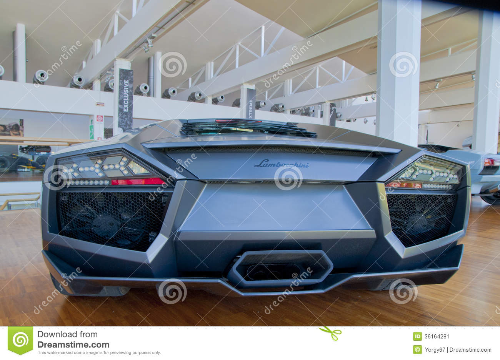 Back View Of Lamborghini Car Editorial Photo Image Of Luxury Back