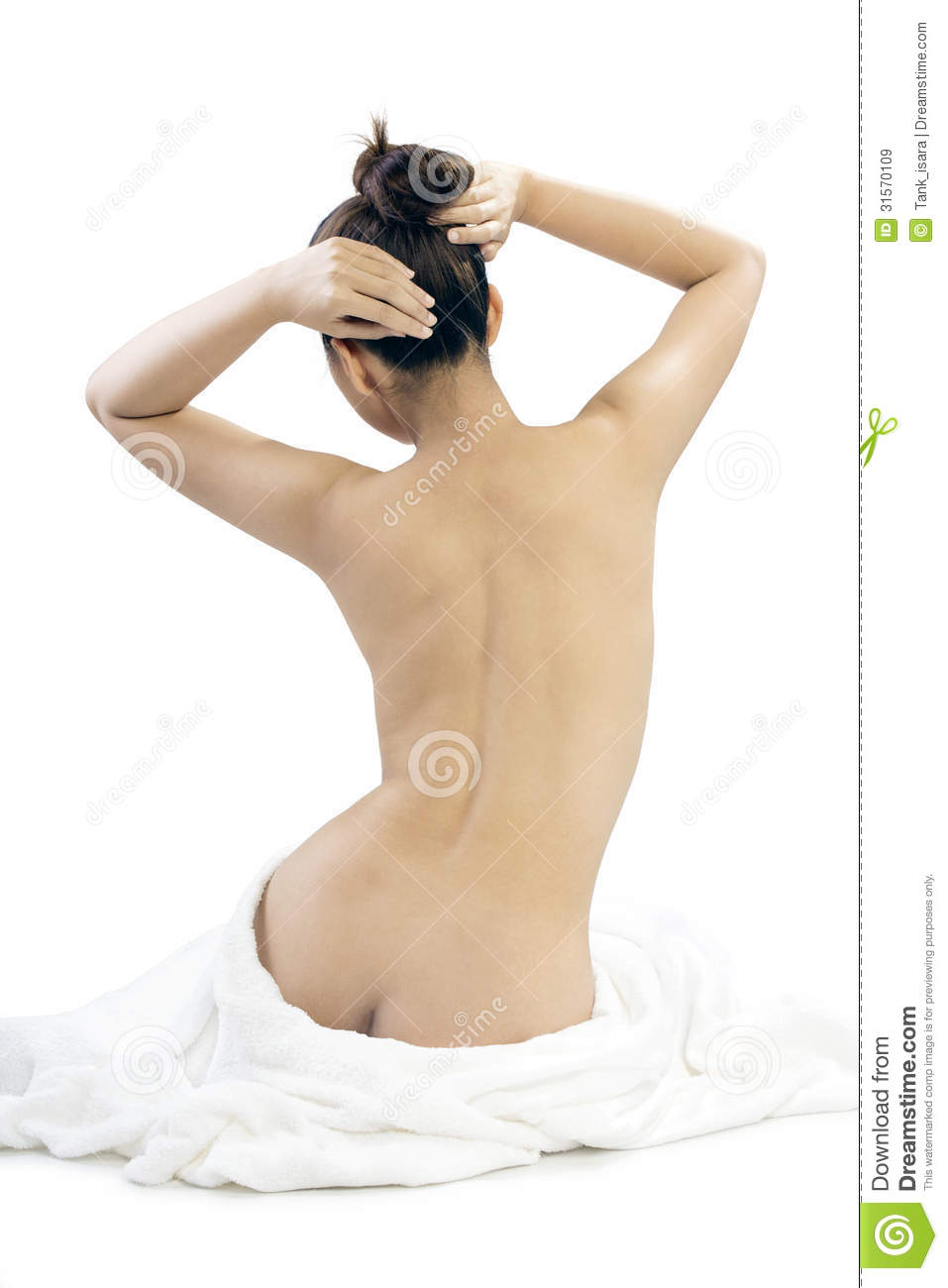 white naked women from the back