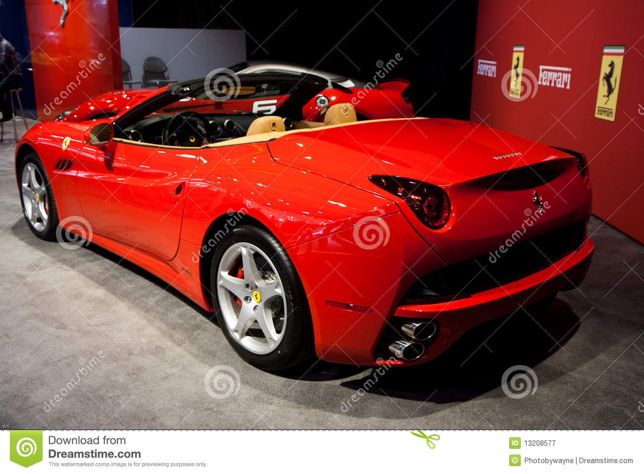 Back View Of A Red Ferrari California Editorial Photography Image