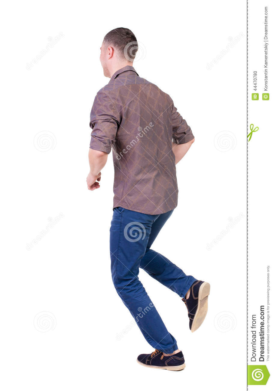 Back View Of Running Man. Stock Image