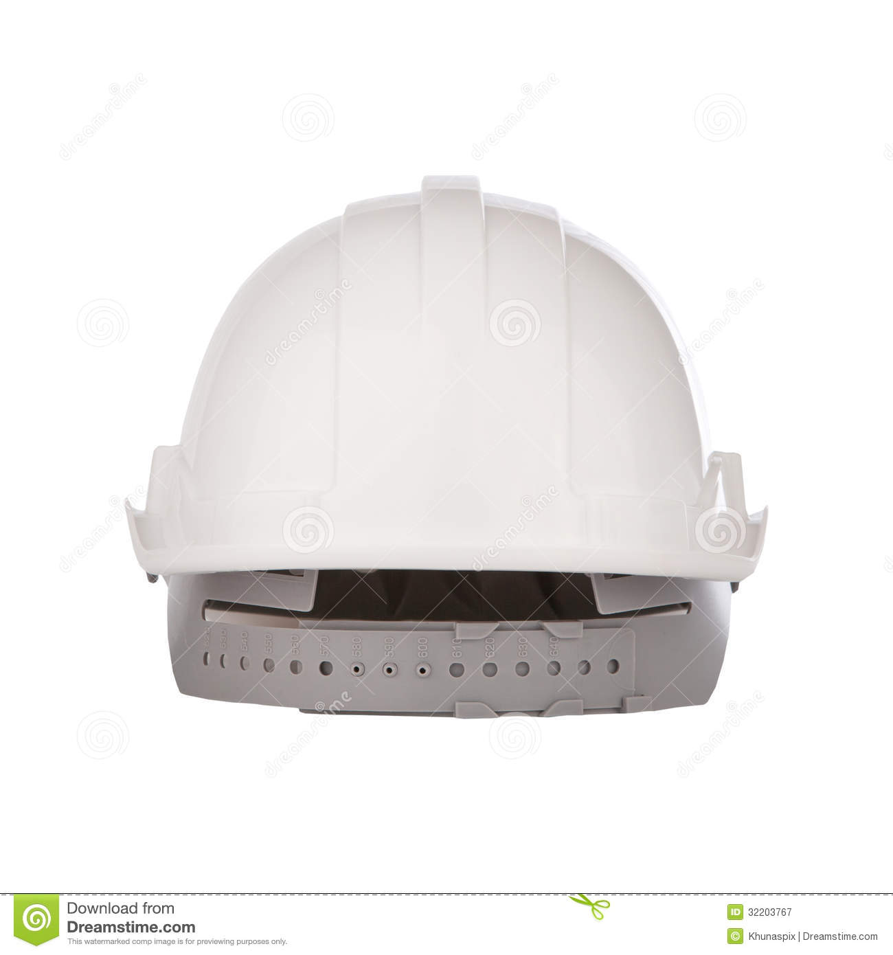 Back View Of Safety Helmet Cap Isolated White Stock Image - Image: 32203767