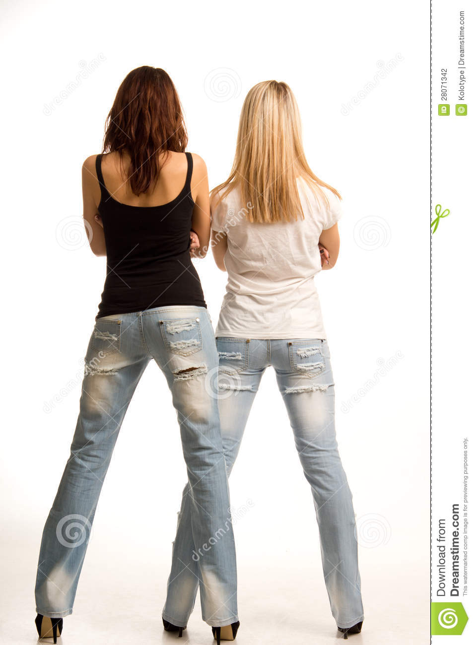 Back View Of Two Girls Stock Photography - Image 28071342-9317