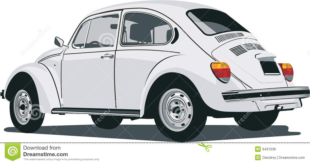 Back View Of A Vw Beetle Stock Vector Image Of View