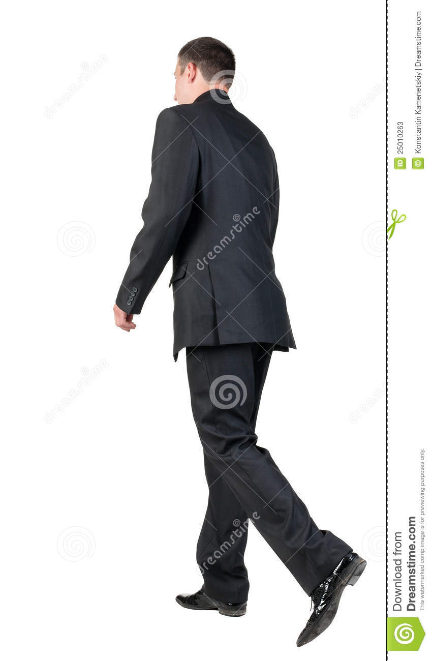 Back View Of Walking Business Man. Stock Photos - Image ...
