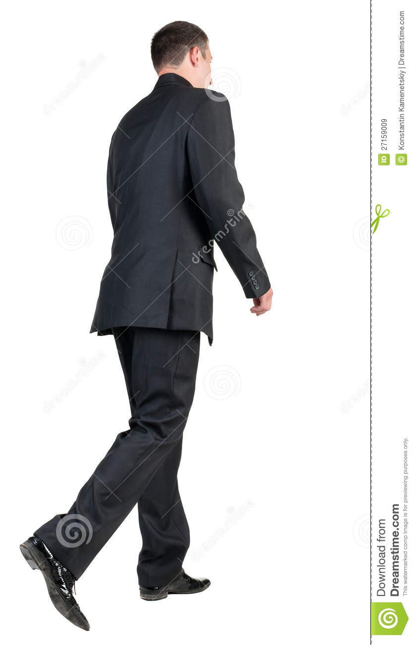 Back View Of Walking Business Man. Royalty Free Stock ...