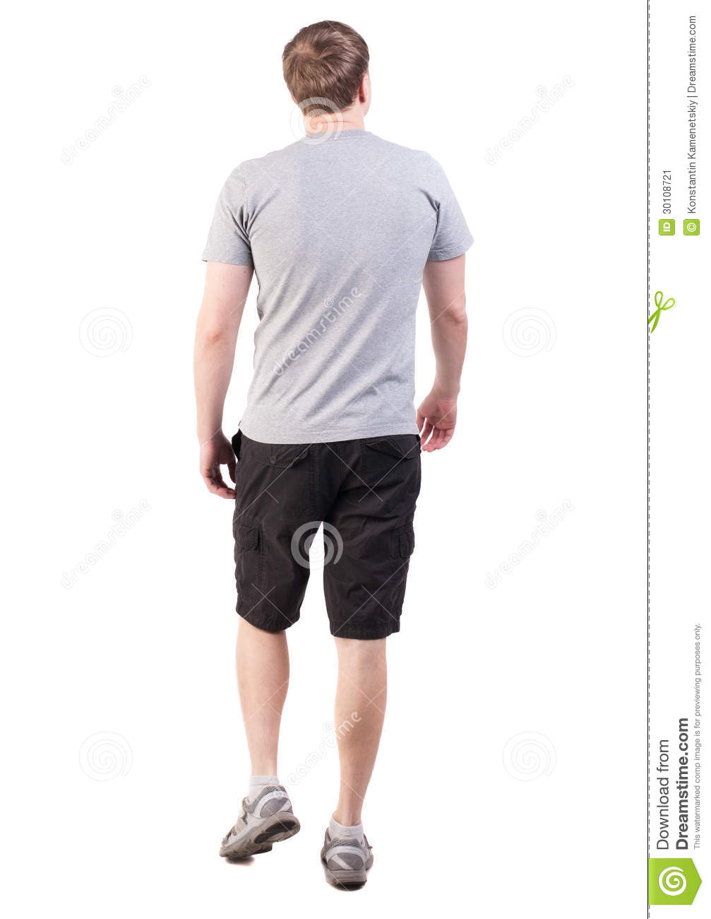 ... Handsome Man In Shorts And Sneakers Stock Image - Image: 30108721