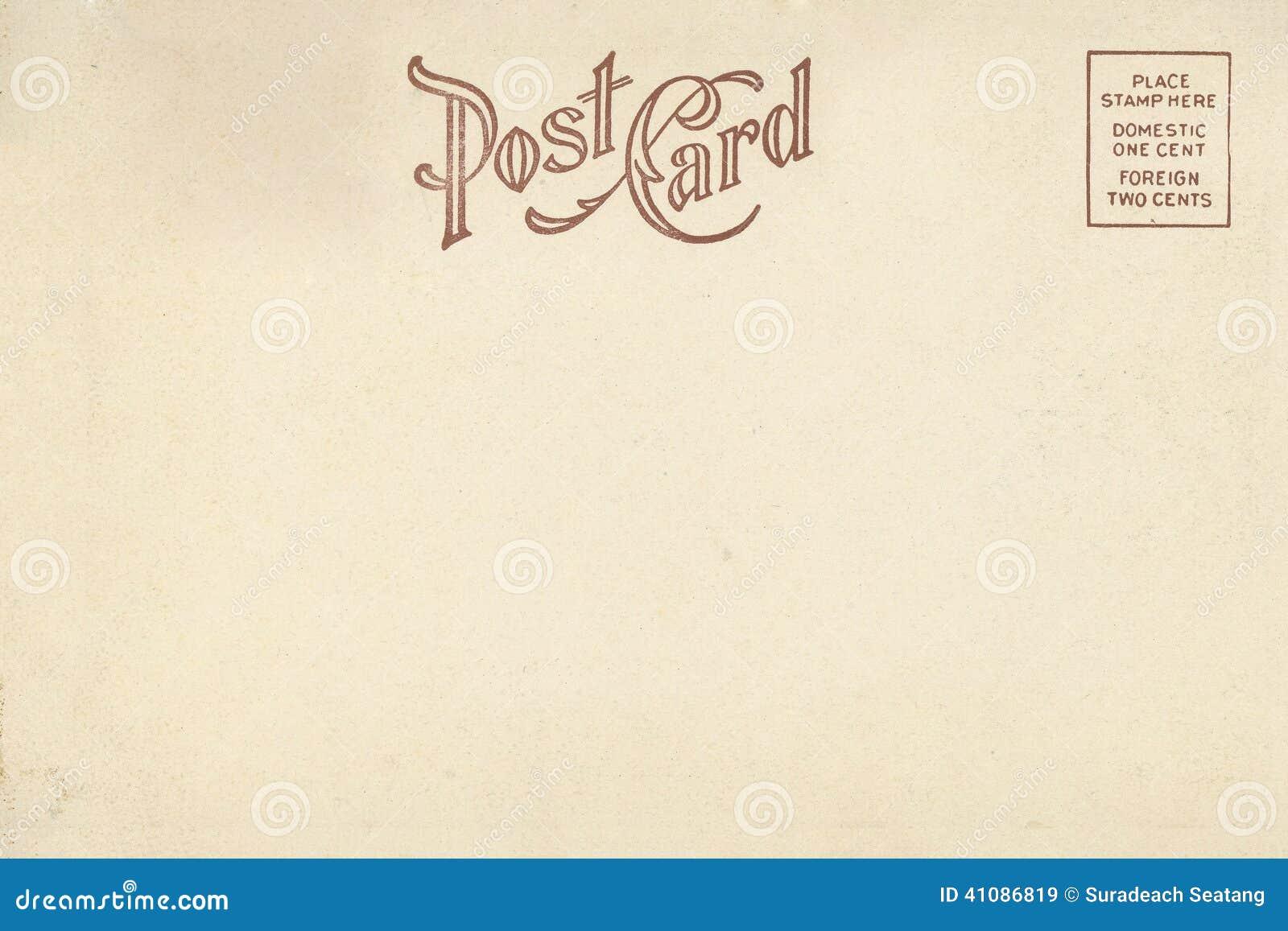 back of vintage blank postcard stock photo  image 41086819