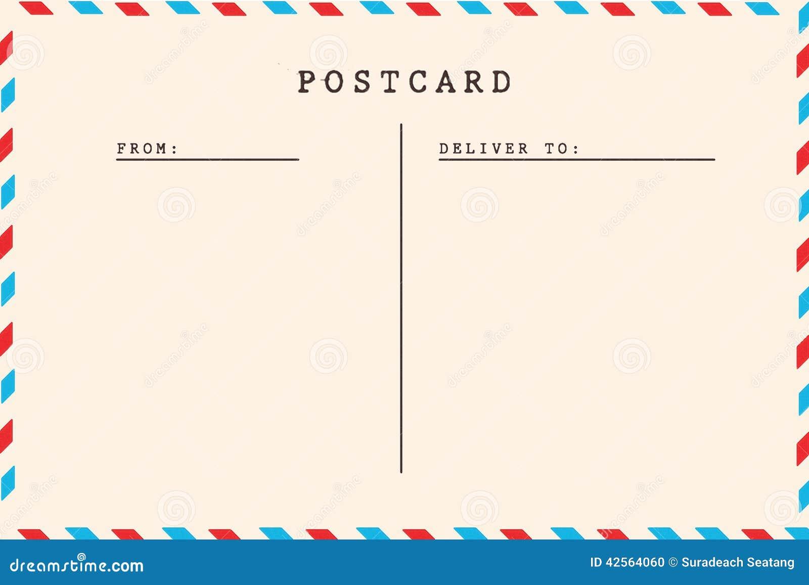 Back Of Vintage Blank Postcard Stock Photo Image Of