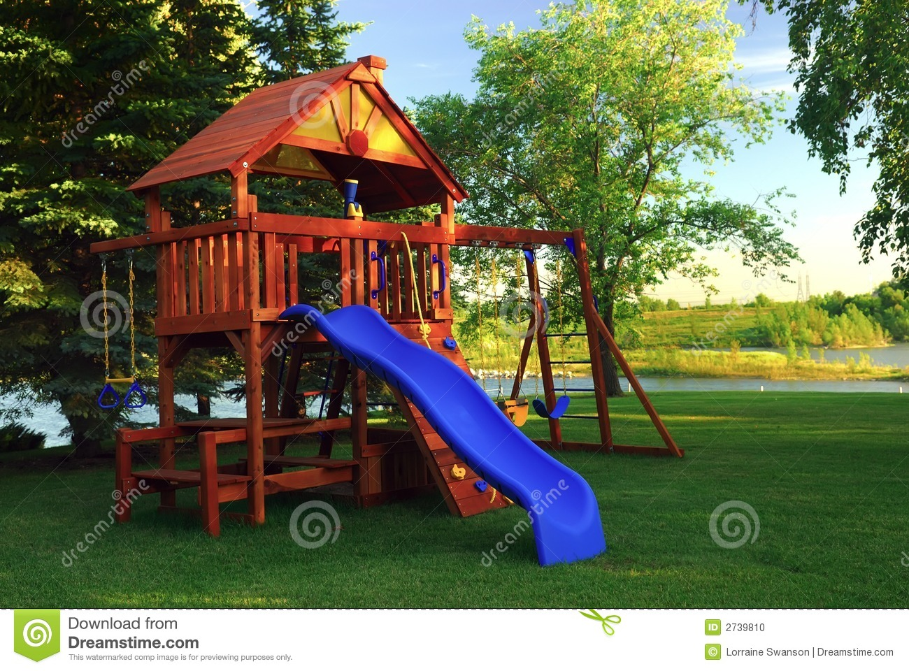 Backyard Play Structure back yard play structure stock photo. image of happiness - 2739810