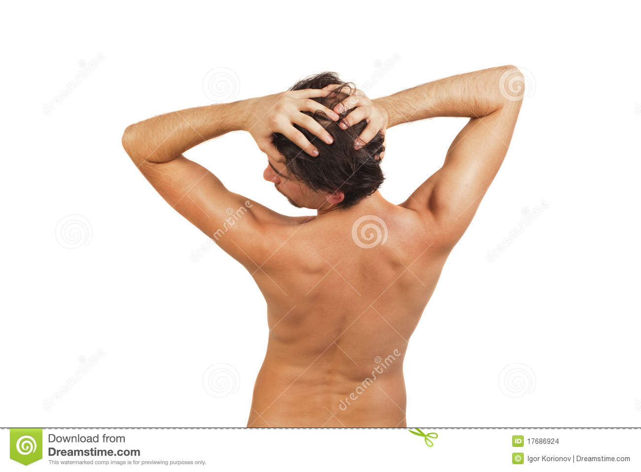 back of young naked man with beautiful body stock photo - image of