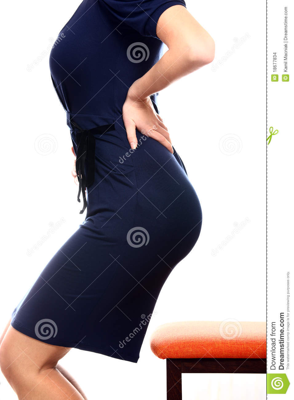 Woman With Back Pain Stock Photo - Image: 20186400