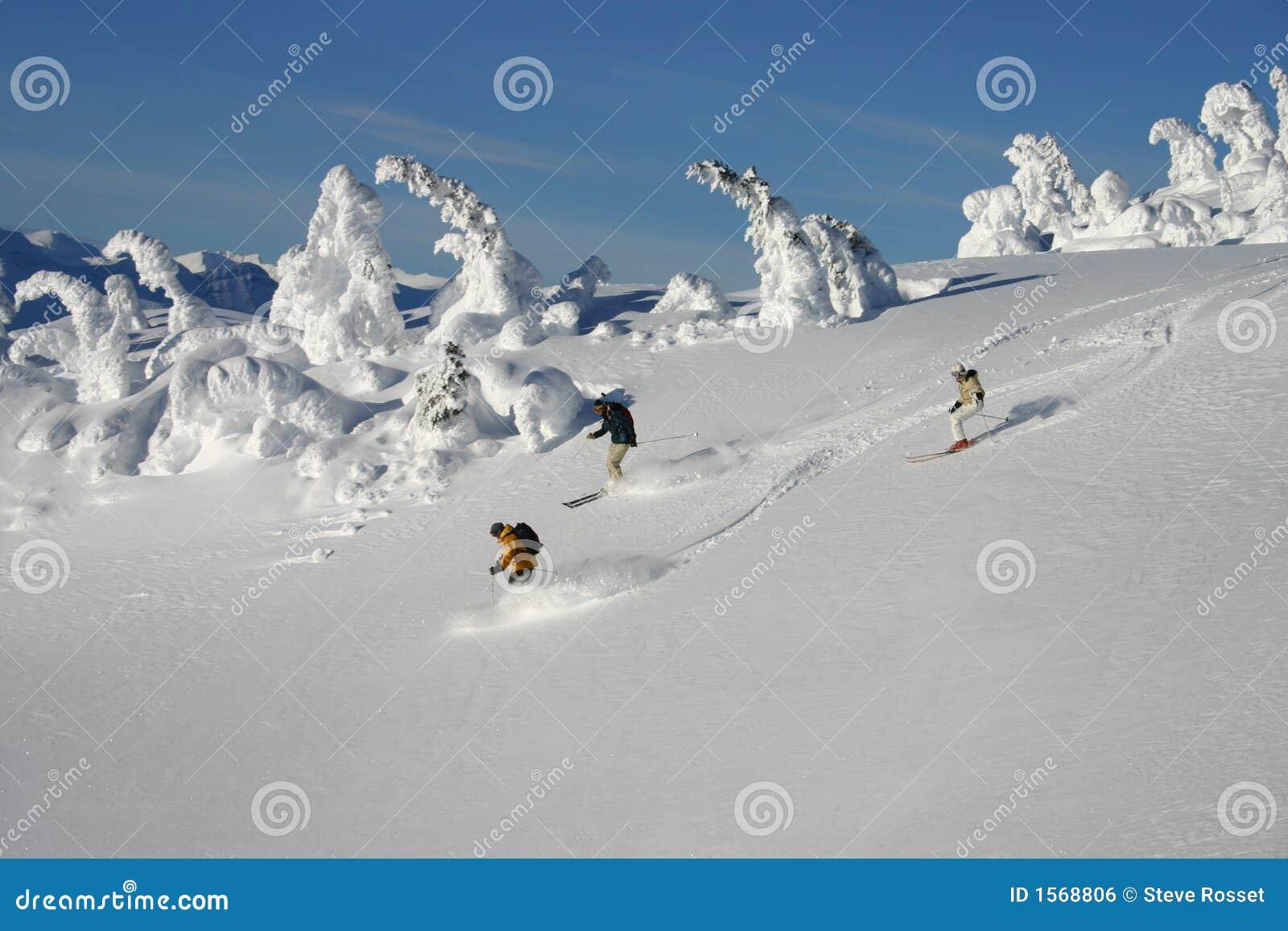 Backcountry να κάνει σκι