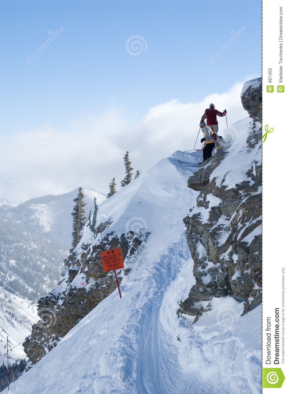 Download Backcountry Skiing Trail Access Stock Image - Image of sport, diamond: 467453