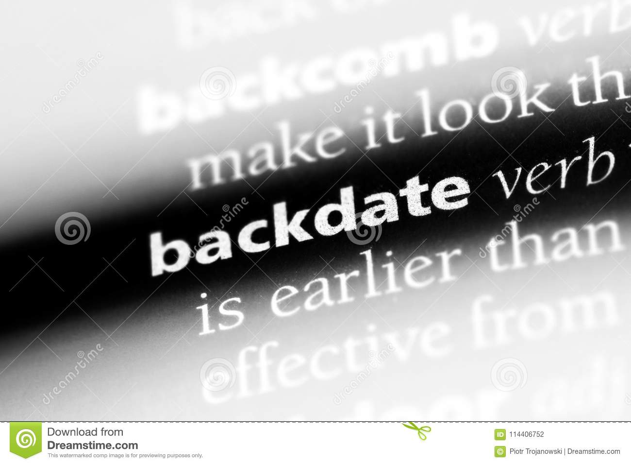 Stock backdating definition