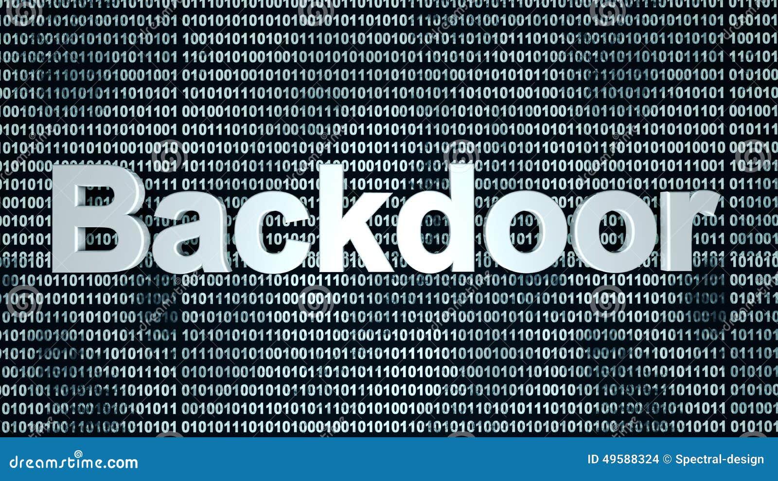 Backdoor stock illustration  Illustration of backdoor - 49588324
