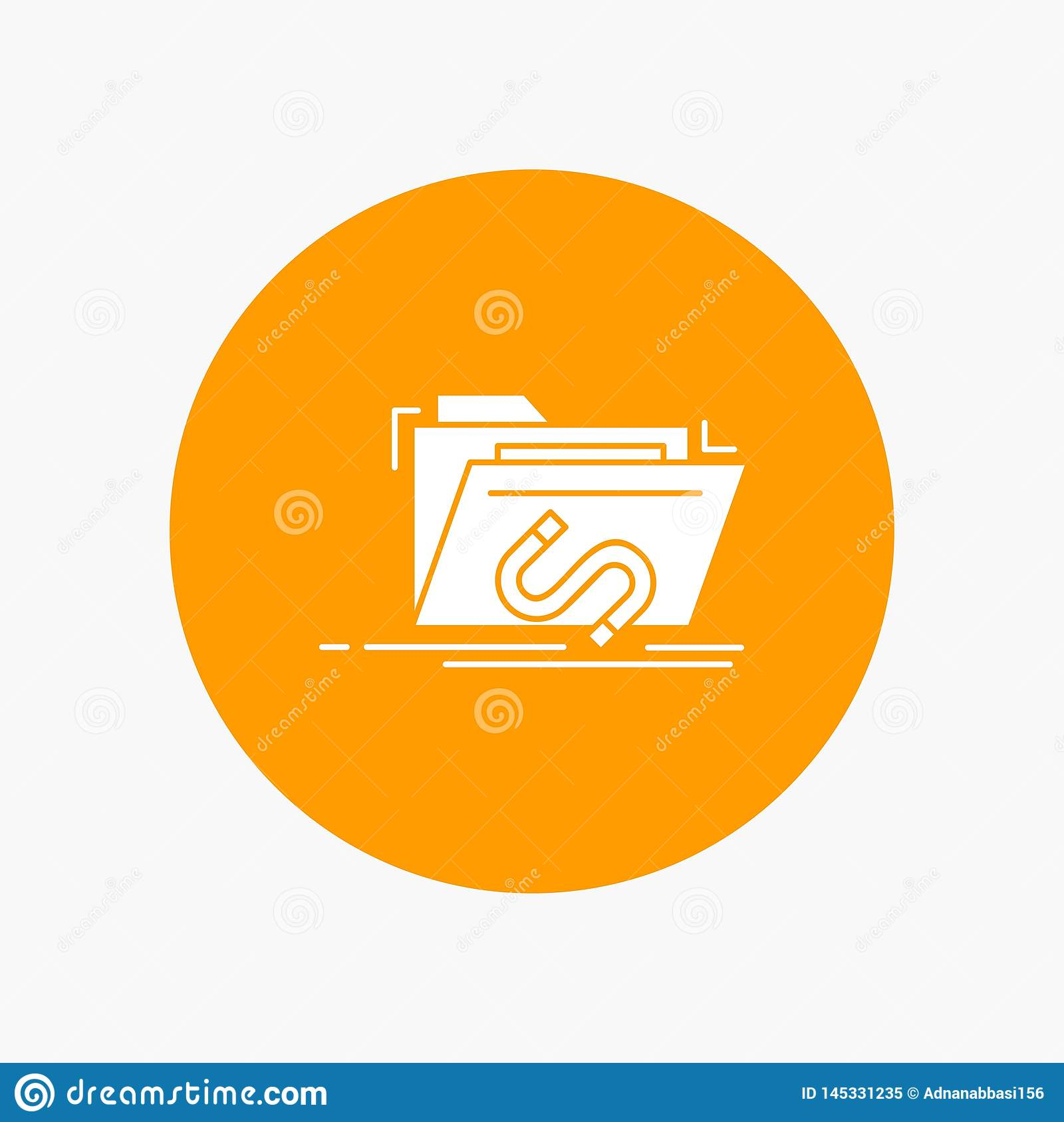 Backdoor, exploit, file, internet, software White Glyph Icon in Circle. Vector Button illustration