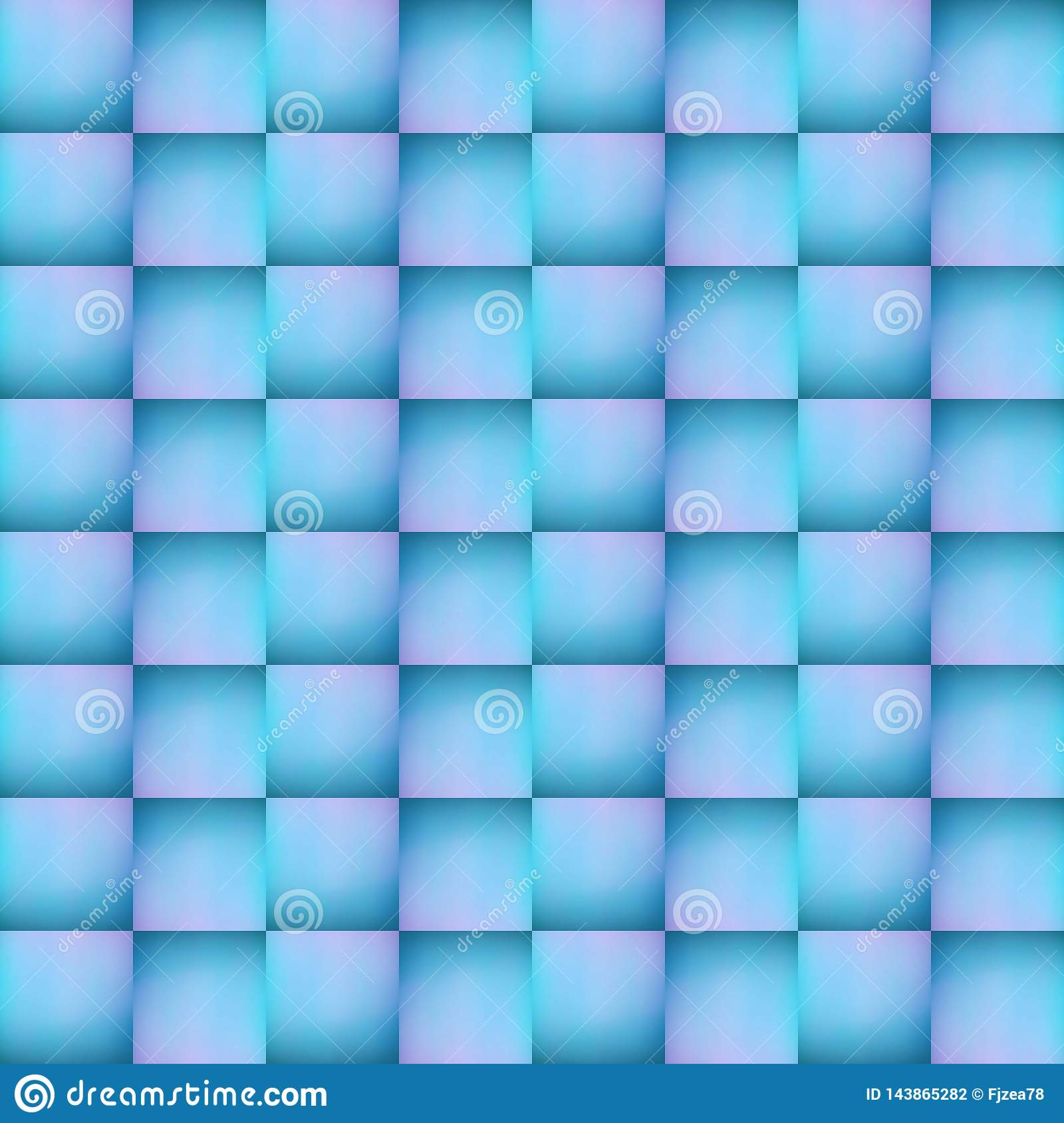abstract design of collage from an opaque glass image with indirect light in blue and pink colors, background and texture