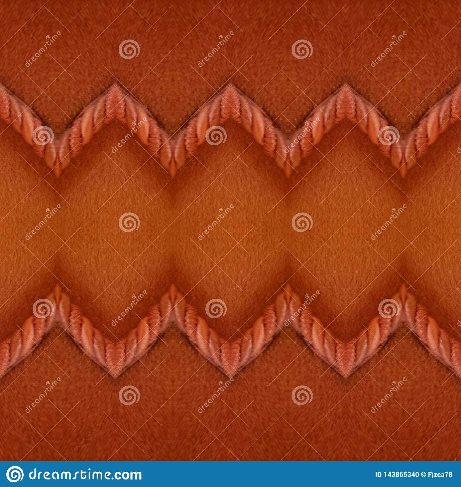 abstract design with fabric and cord in red color, background and texture