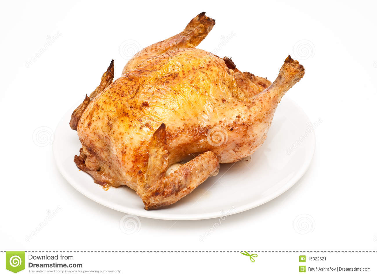 Backed/roast Chicken Stock Image - Image: 15322621